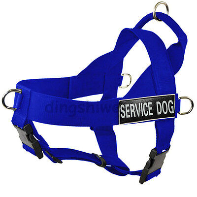 SERVICE DOG VEST/HARNESS Nylon With Removable label Patches for Large Dogs