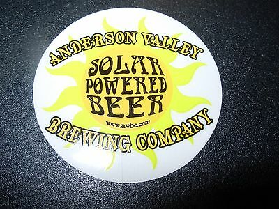 ANDERSON VALLEY BREWING Solar Powered STICKER decal craft beer brewing brewery