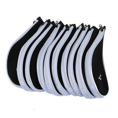 10 pcs Golf Club Iron Putter Head Cover HeadCovers Protect Set Fit FlyP