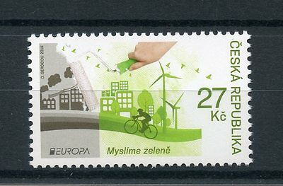 Czech Republic 2016 MNH Europa Think Green 1v Set Bicycles Windmills Stamps