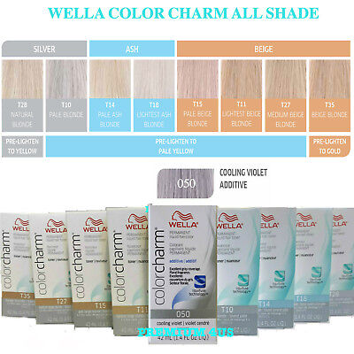 Wella Color Charm Toner 050,T10,T11,T14,T15,T18,T27,T28,T35,20 Volume Developer.