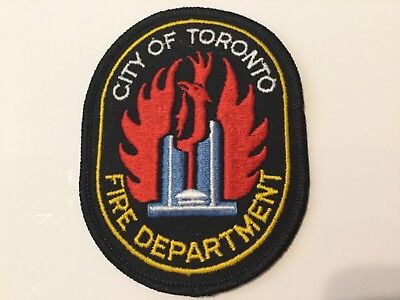 1 New City of Toronto Fire Department Shoulder Patch-Old Ontario,Canada