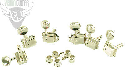 NEW! Gotoh 6-In-Line Left-Handed Vintage Style Locking Tuners - Nickel