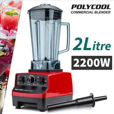 2200W 2 Litre Commercial Blender Mixer Juicer Food Processor Smoothie Ice Crush