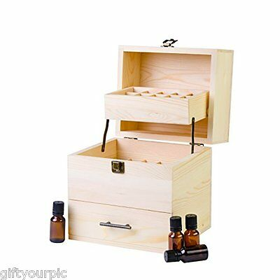 Essential oil storage box case container 3 tier stores 59 wooden carry
