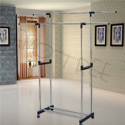 1/2 Portable Stainless Steel Clothes Organizer Cloth Dryer Hanger Rack Garment