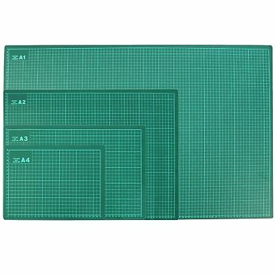 3mm Thick Craft Cutting Mat 1cm Measuring Grid Non Slip Surface A4 - A1