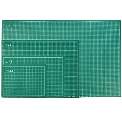 Dekton 3mm Thick Craft Cutting Mat 1cm Measuring Grid Non Slip Surface A4 - A1