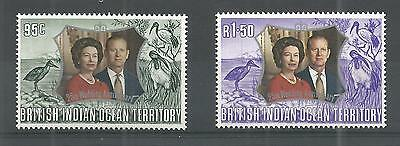 B.i.o.t 1972 Royal Wedding Sg,45-46 U/mm Nh Lot 241A