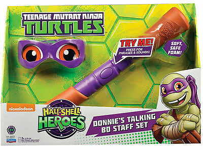 Teenage Mutant Ninja Turtles Tmnt Donnie's Talking Bo Staff Set *new In Box*
