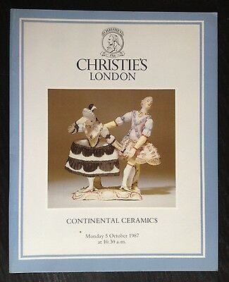 Christie's Continental Ceramics 1987 London Catalog