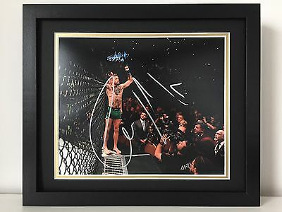 RARE Conor McGregor Signed Photo Display UFC + COA + FRAMED + PROOF MMA