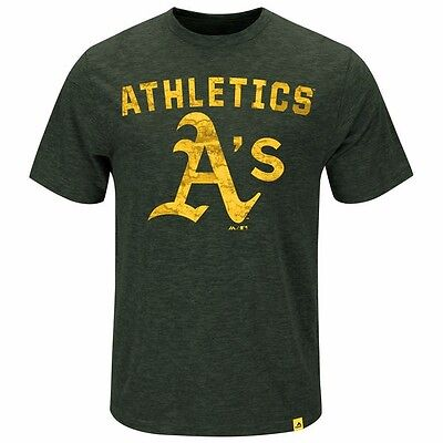 MLB Baseball T-Shirt OAKLAND ATHLETICS A's Hours and Hours von Majestic