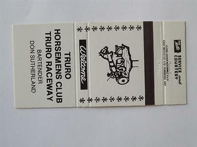 Truro Horsemen's Club Truro Raceway Nova Scotia Horse Harness Racing Matchbook