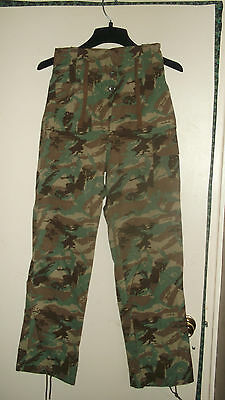 Camo uniform African pants 32 bat. small