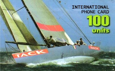 2181 Scheda Telefonica Phonecard Usata International Tack 100 Units