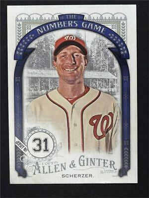 2016 Topps Allen and Ginter The Numbers Game #NG13 Max Scherzer - NM-MT