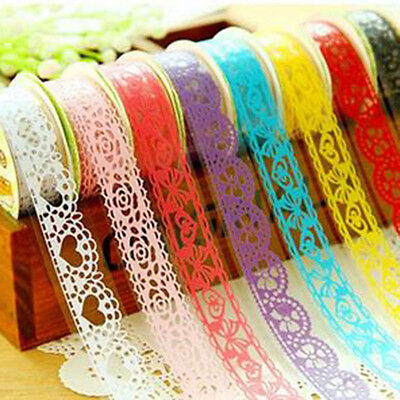 HOT SALE  Paperlace Sticky Roll Decorative Paper Tape For Student Office Supply