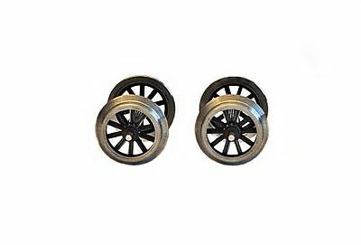 Zenner 2 Spoke wheel sets with Stainless steel tyres for LGB Personw. or Gueterw