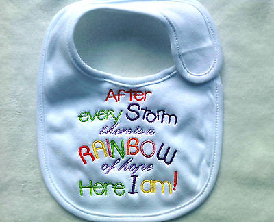 baby bib  - After every storm there is a rainbow of hope