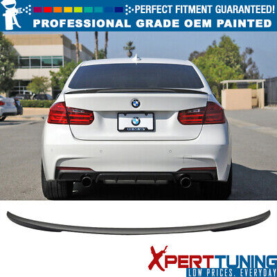 12-16 BMW 3-Series F30 4Dr 4Door P Painted Trunk Spoiler - All OEM Color Match