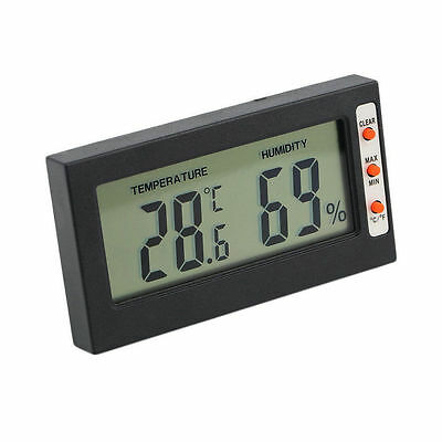 New Digital LCD Thermometer Hygrometer Temperature Humidity Meter Gauge GS