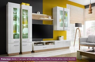 Modern Led Display Living Room Stand Cupboard TV Set Furniture Cabinet Wall Unit