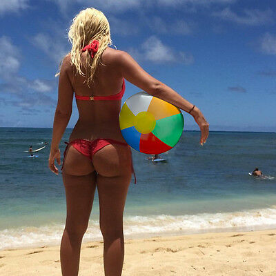 Inflatable Blowup Panel Beach Ball 23cm 30cm Holiday Party Swimming Garden Toy