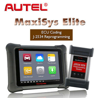 Autel MaxiSys ELITE NEW Scan Tool Holden Ford J-2534 Reprogramming Free MV101