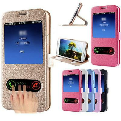 Silk Flip Wallet PU Leather Case Cover For Samsung Galaxy J5 S5 G7106 G5308 G360