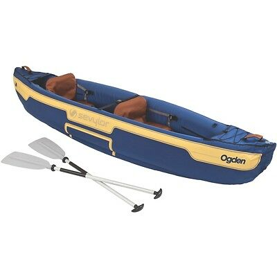 Sevylor Ogden Combo Inflatable Canoe with Paddles - BRAND NEW - Free Shipping