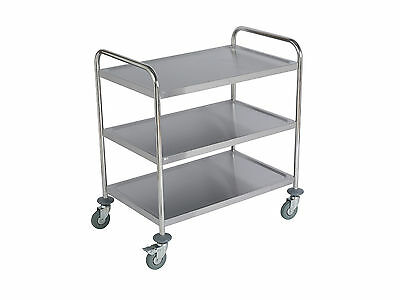 Stainless Steel Catering Trolley 3 Tier - (Large)