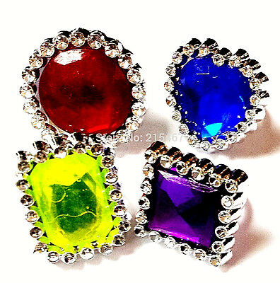 12 piece Bling Gem Rings Birthday party favour carnival prizes pinata Bag filler