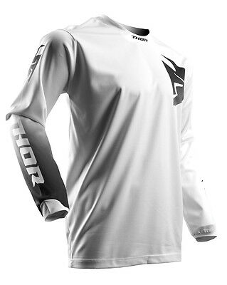 THOR MX Motocross Men's 2017 PULSE WHITEOUT Jersey (White) 4XL (4X-Large)