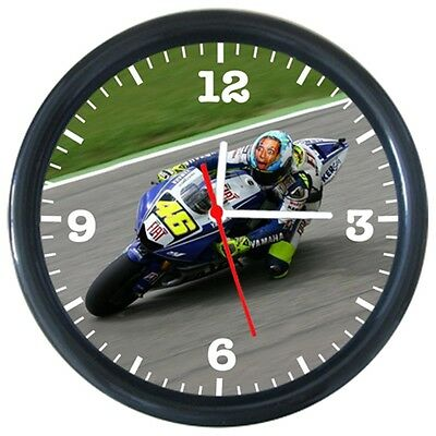 Valentino Rossi Cool Racing Motorcycle Design Round Wall Clock