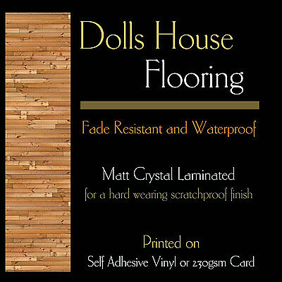 Floor T6, A4 Dolls House Wood Flooring, Card or Self Adhesive Vinyl + Laminate
