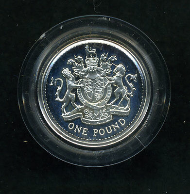 Great Britain 1983 National Arms 1 Pound Sterling Proof In Original Box