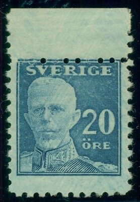 SWEDEN #144 20ore Gustaf, margin single NH VERY RARE, only 20 exist, Pollak cert