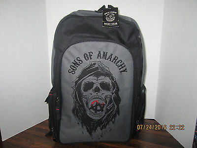 Sons Of Anarchy Skull Backpack Road Gear 20'' X 13'' Well Made Free Shipping