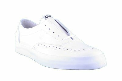 ALIFE PUBLIC ESTATE Low White Leather Sneaker Oxford Skate Shoes NIB ... cd7b078290