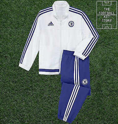 Chelsea Presentation Tracksuit - Official Adidas Football Suit - Boys 3-4 Years
