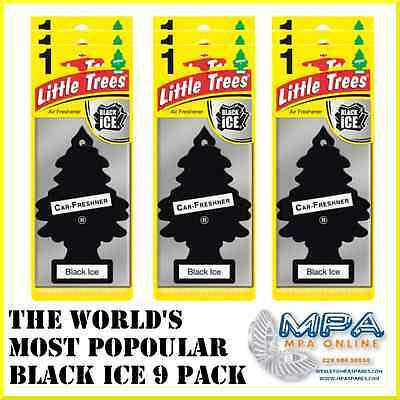 Magic Tree Black Ice 9 Pack - Car Home Office Air Freshener