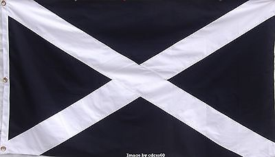 HEAVy COTTON 3 FEET X 5 FEET SAINT ANDREWS FLAG - SCOTLAND - SALTIRE - ST ANDREW