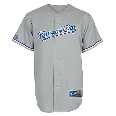MLB Baseball Trikot Jersey KANSAS CITY ROYALS grau von Majestic