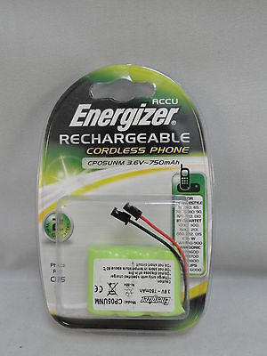 Energizer Rechargeable Cordless Phone Battery CP05UNM 04H 3.6V- 750mAh