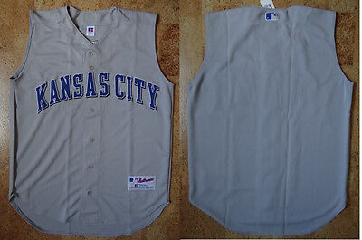 MLB Baseball Trikot/Jersey KANSAS CITY ROYALS - Authentic grau Russell Athletic