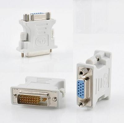 15 Pin DVI-D Male to VGA Female PC Laptop 24+1 pin Video Converter for Adapter