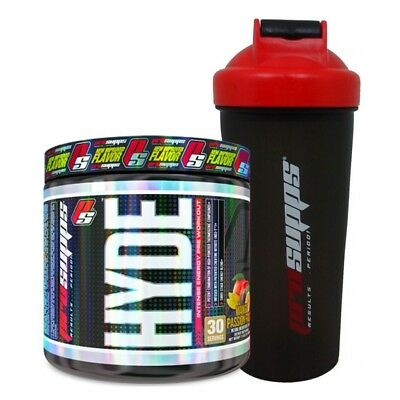 """Pro Supps HYDE V3 """"NEW"""" Pre-Workout Beta-Alanine 30 Servings + OFFICIAL Shaker"""