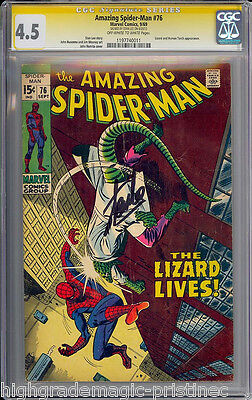 Amazing Spider-Man #76 Cgc 4.5 Oww Ss Stan Lee Signed Sig Series Cgc #1197740011