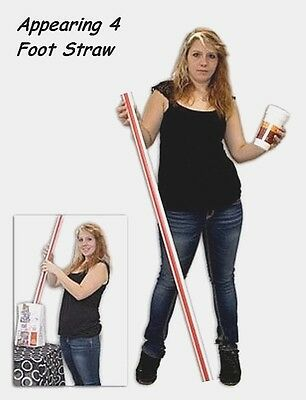 Appearing 4 Foot Straw (Approx 1.2 Meters) Magic Trick Easy-To-Do & Super Cool!